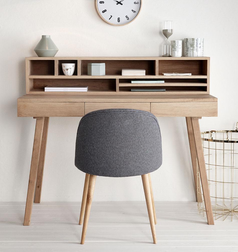 Bureau Scandinavisch Design.Hubsch Bureau Met 3 Lades Eikenhout Naturel 120x57xh78cm
